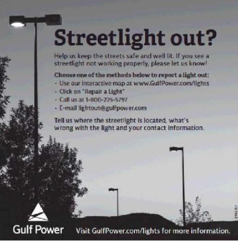 Okaloosa Island Leaseholders Association OILA Street Light MSBU - Street light map us